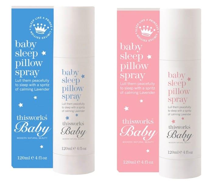 This Works baby sleep pillow spray prince and princess