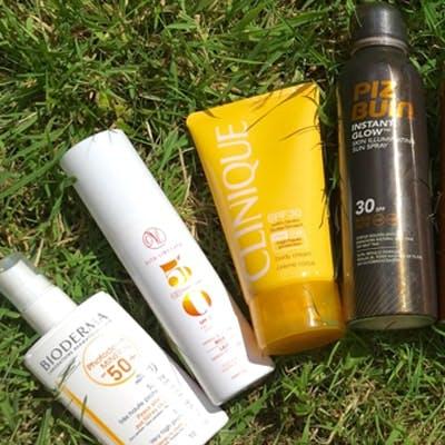 Bioderma, Vita Liberata, Clinique and Piz Buin suncare
