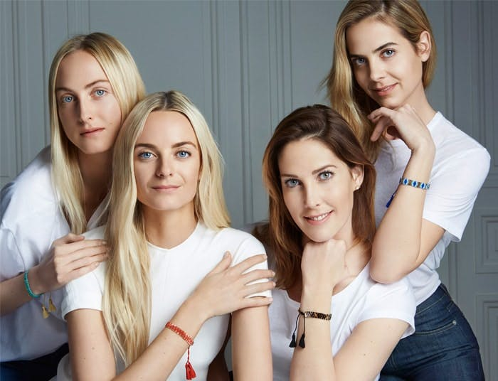 Clarins granddaughters Claire, Virginie, Prisca and Jenna with their bracelets