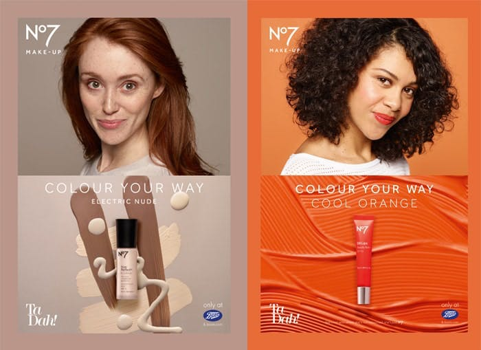 No7 Electric Nude and Cool Orange
