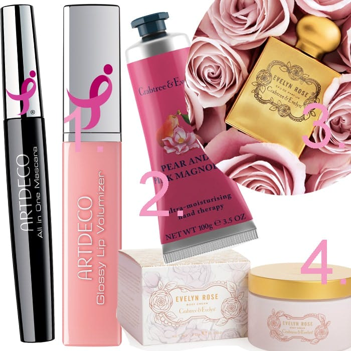 Breast Cancer Awareness October Beauty products