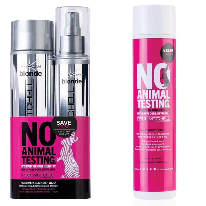 Paul Mitchell say No Animal Testing