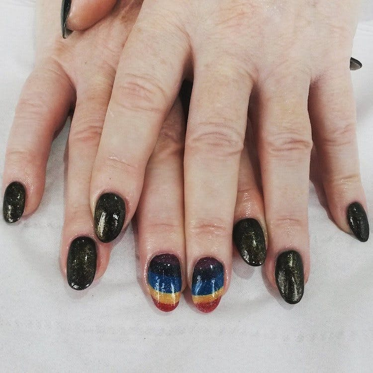 Nails by Mei Wai Rainbow Nails