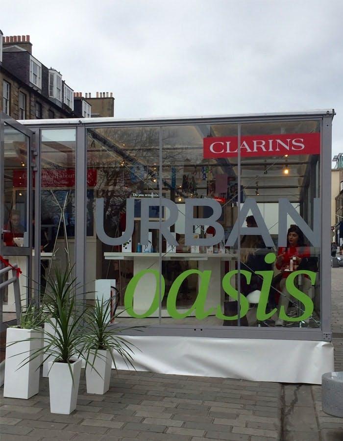 Clarins Urban Oasis Edinburgh Castle Street