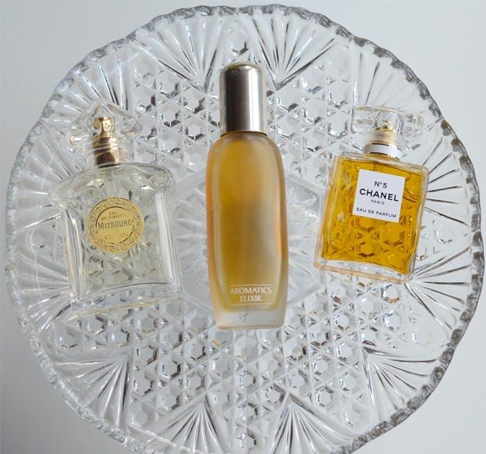 Guerlain Mitsouko, Clinique Aromatics Elixir and Chanel No5