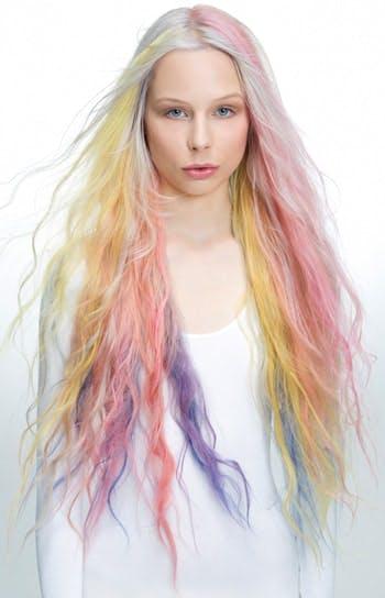 Rainbow hair with Fudge Paintbox