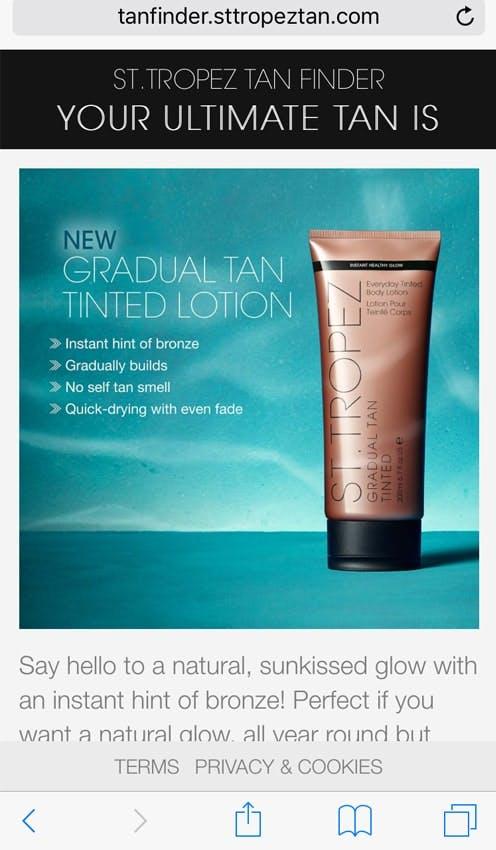 Gradual Tan for me!