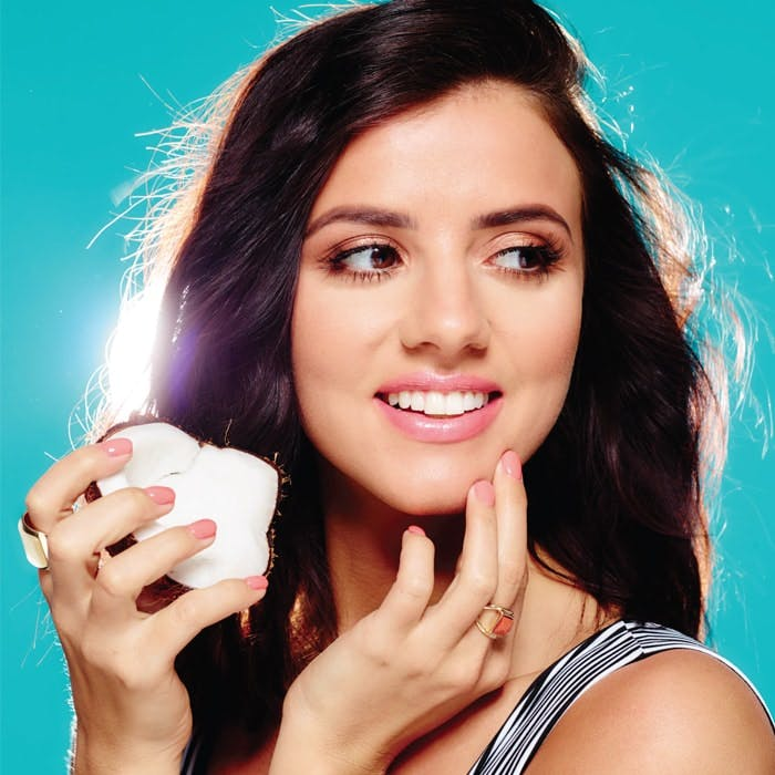 Lucy Mecklenburgh Coconut Nails