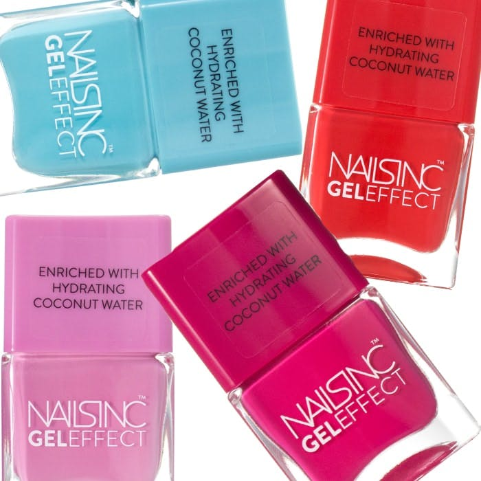 Nails Inc Coconut Water Gel Effect nails