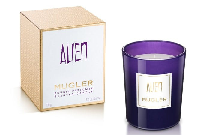 Mugler Alien Candle and box