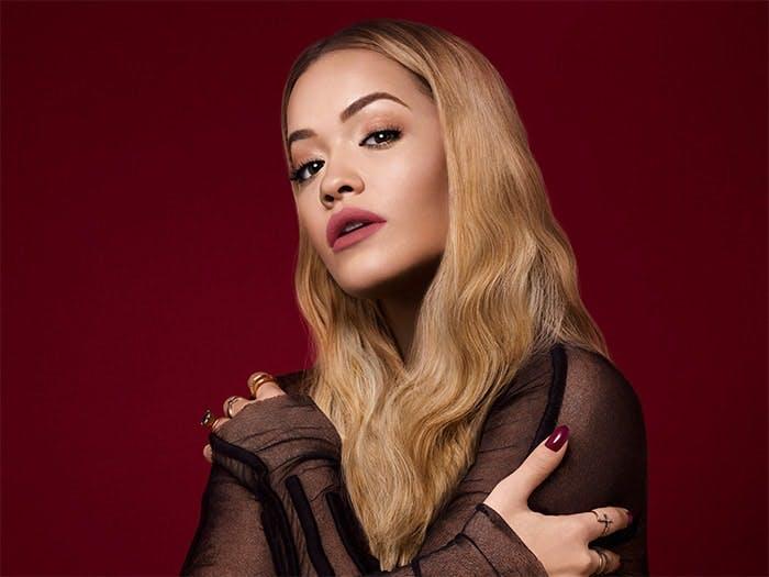 Rita Ora in Rimmel's new matte liquid lips