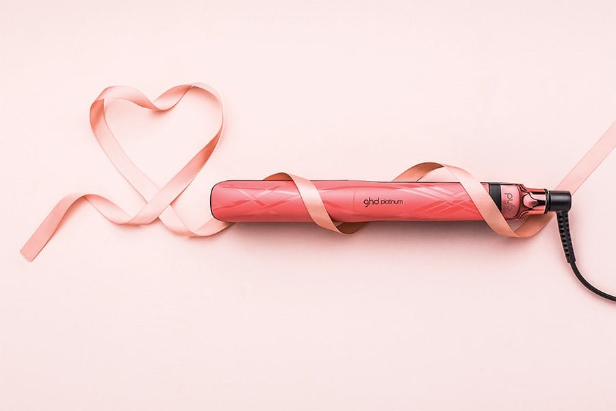 GHD Platinum straighteners for breast cancer awareness month