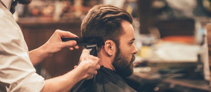 gents haircut shave. Black Bedroom Furniture Sets. Home Design Ideas