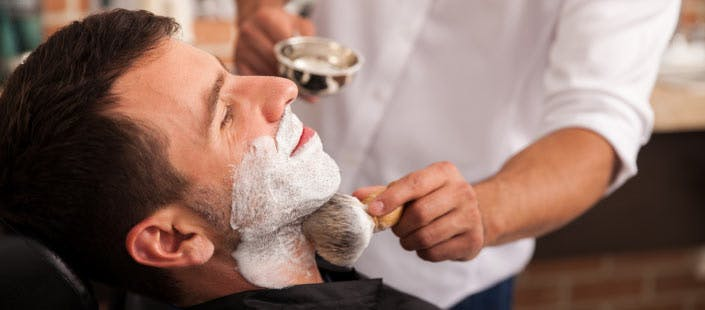 £18 for a Hair Cut with Hot Towel Shave, Ear & Nose Waxing